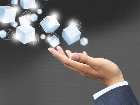 Hand holding technology Reklamní fotografie