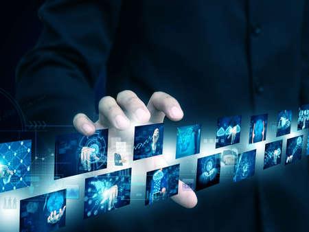 businessman holding technology Reklamní fotografie