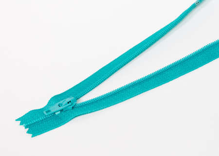 Blue plastic zipper