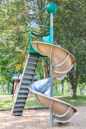 Metal playground slide