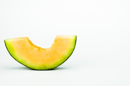 Cantaloupe: Melon isolated on white background