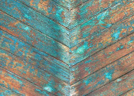 old wooden diagonal multicolored wall photo
