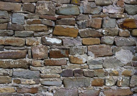 coquina: old  brick horizontal wall Stock Photo