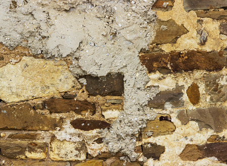 coquina: old rough brick  horizontal wall , textures