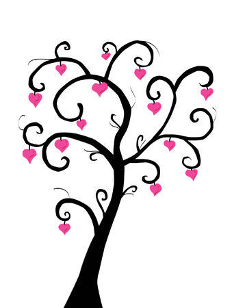 love tree for valentine's day Stock Vector - 6391923