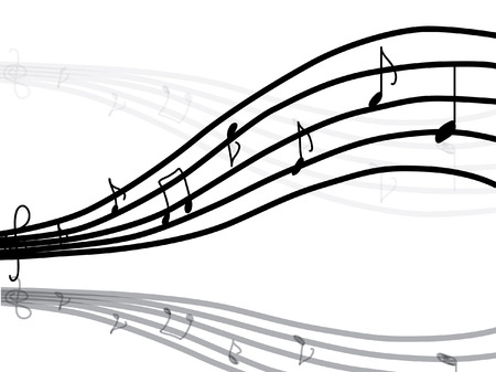 music notes vector: music notes, vector image