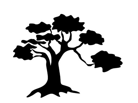 arbor: abstract tree silhouette Illustration