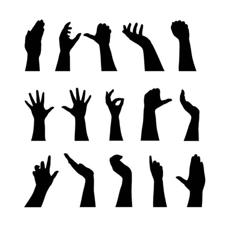 voting hands: hand silhouettes
