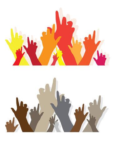 hands symbol of diversity Stock Vector - 6823047
