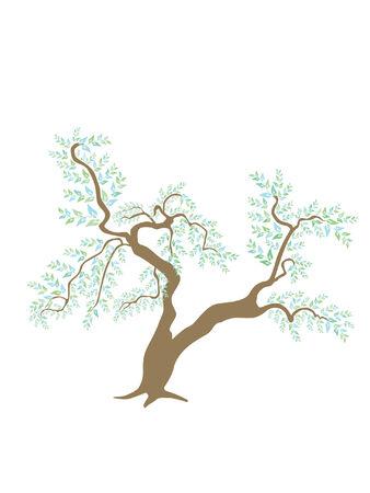 bonsai tree: abstract bonsai tree Illustration