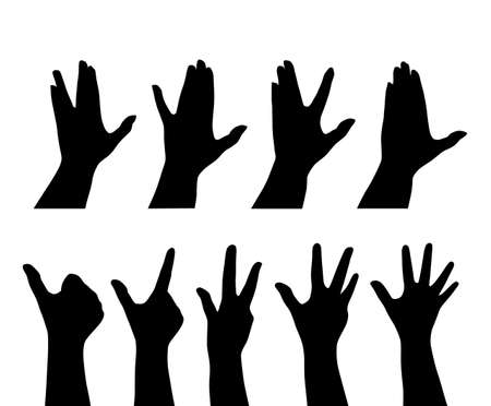 set of hands Stock Vector - 6910481