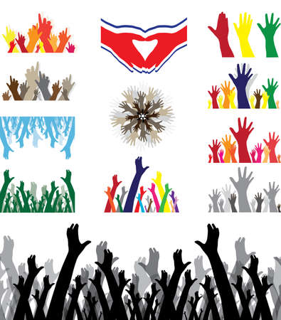 set of hands Stock Vector - 6910509