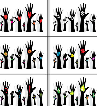 concurrence: hands symbol of diversity