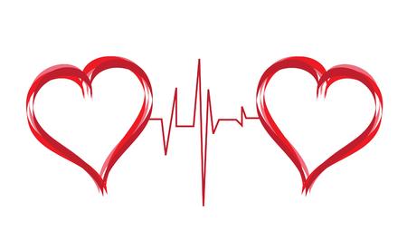 latidos del coraz�n: s�mbolo de corazones abstracta de amor