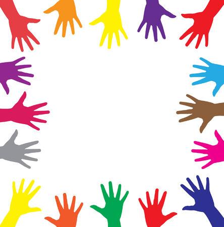 multicolor hands symbol of diversity