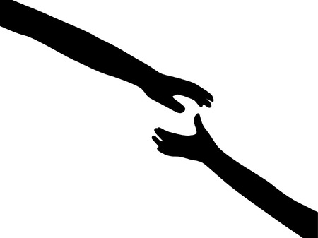 concurrence: human hands symbol of hope