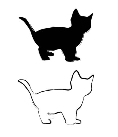 painted little elegant cats Vector