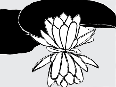 abstract painted lotus flower Vector