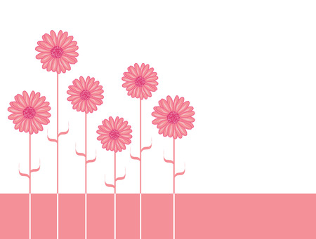 aster: pink aster flowers with place for text Illustration