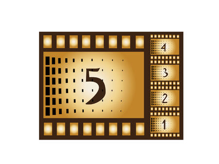 retro movie countdown Stock Vector - 7227113