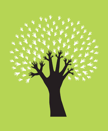 hand tree, symbol of diversity Vector