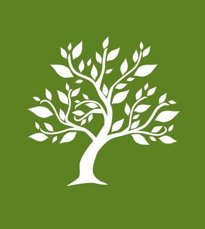 absztrakt fa, jelképe a természet Illusztráció