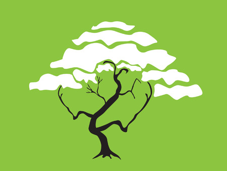 abstract tree, symbol of nature Vector