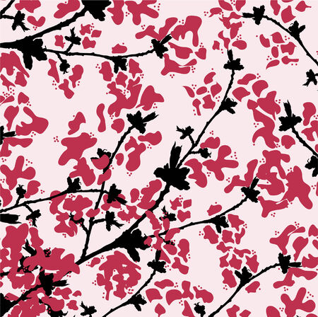 floral texture in pink colors Illustration