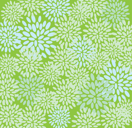 floral texture in green colors Vector