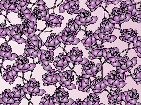 floral texture with violet roses Vector