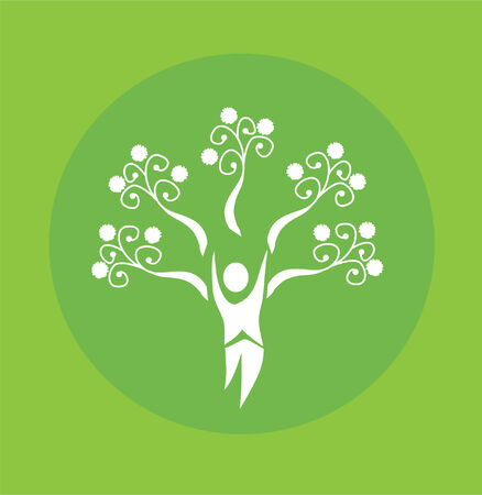 recycle tree: abstract human tree, symbol of life and nature