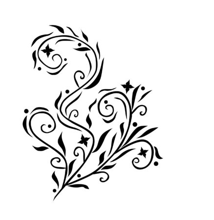 scroll design: abstract floral decoration for your design