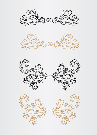 ornamental page decorations set, for your design Vector