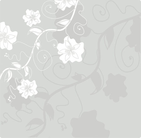 floral card for life events, with space for text Vector