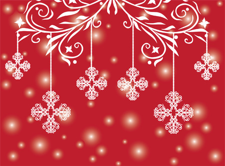 christmas and new year background with snowflakes and space for text Illusztráció