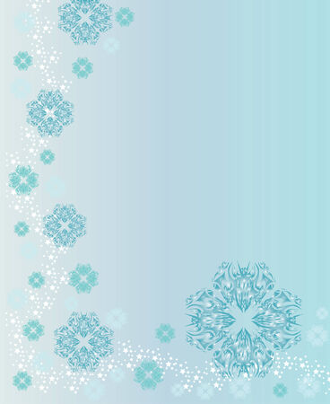 christmas and new year background with snowflakes and space for text Vector