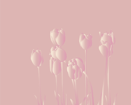floral card for life events with space for text, with beautiful pink tulips Vector