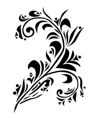 decorative floral element for your design Vector