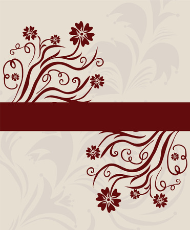 floral invitation for life events with space for text