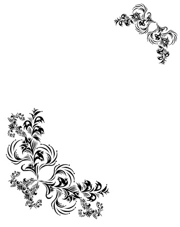 floral frame for life events with space for your text or photo