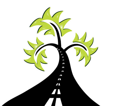abstract road tree, symbol of nature recycling