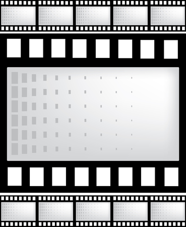 vector film strip with space for your text or image Vector