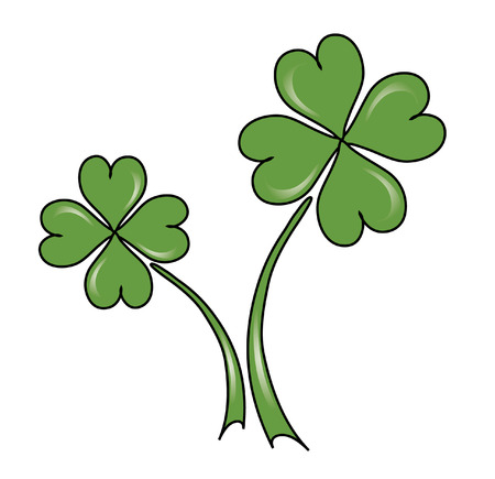 four leaf clovers for St. Patrick's Day Stock Vector - 8921151