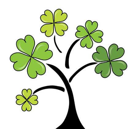 clover tree for St. Patricks Day Vector