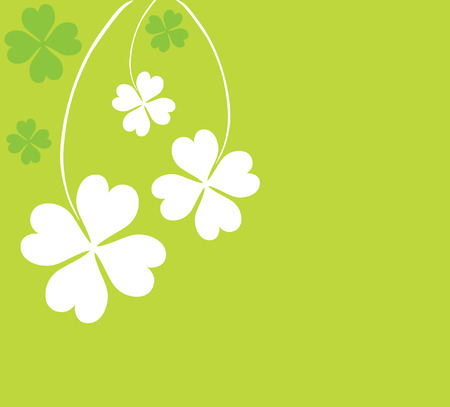 four leaf clovers card for St. Patricks Day with space for your text Vector