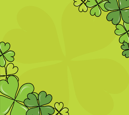 four leaf clovers card for St. Patrick's Day with space for text Stock Vector - 8970875