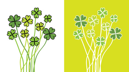 abstract four leaf clovers for St. Patrick's day Stock Vector - 8970877