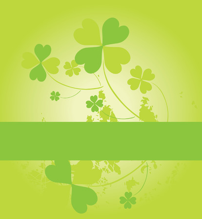 four leaf clovers card for St. Patrick's Day with space for your text Stock Vector - 8970879