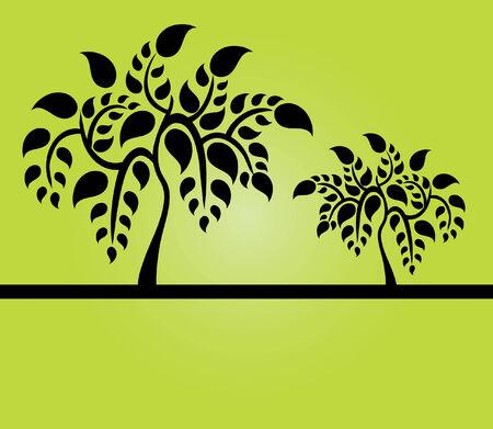 abstractas bellos árboles, símbolos de la naturaleza