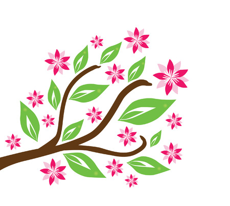 beautiful floral branch, symbol of nature Stock Vector - 9029448